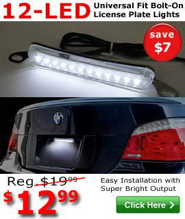 12-LED License Plate Light Lamp