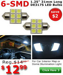 6-SMD DE3175 LED bulbs on sale