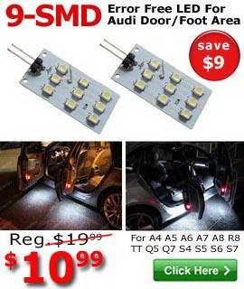Audi LED side door or foot area replacement LED