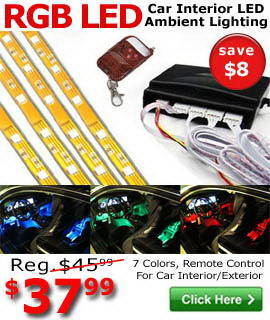 7-Color RGB LED Ambient Lights On Sale