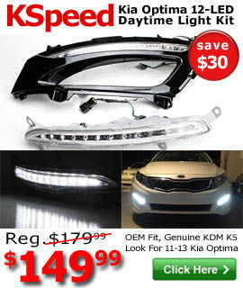 Kia Optima LED Daytime Running Lights