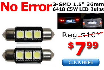 LED License Plate Light Bulbs