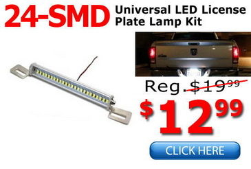 Universal Fit LED License Plate Lamp