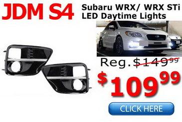 Subaru WRX STi JDM LED DRL Fog Bezels