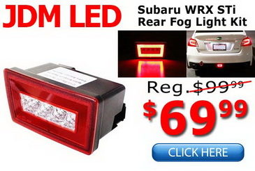 Subaru WRX STi LED Rear Fog Light Reverse Lamps