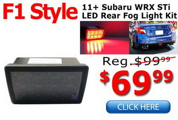 Subaru WRX F1 Style LED Rear Fog Light