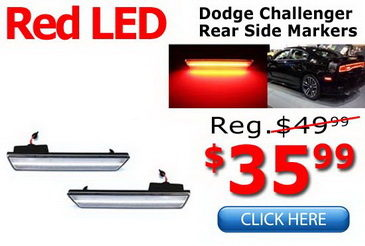 Dodge Challenger Rear LED Side Marker Lamps