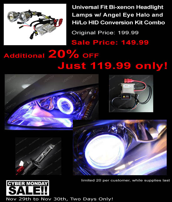 Projector Bi-xenon Headlight Lamps with HID Kit combo Deal