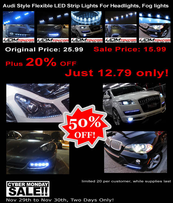 Audi Style LED Strip Lights Super Sale 50% OFF