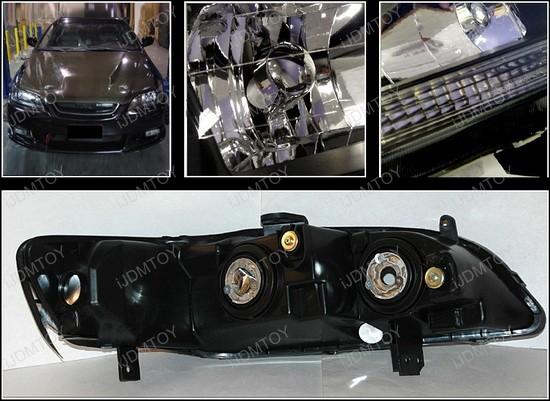 98-02 honda accord black housing euro style reflector ... 2002 honda accord wiper wiring diagram 2002 honda accord headlight wiring