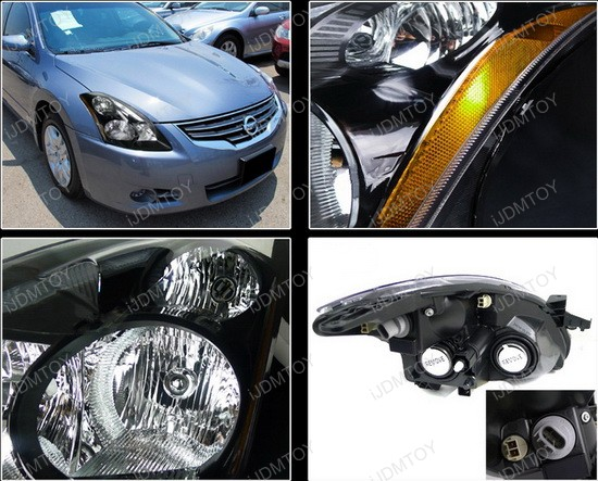 10 12 Nissan Altima Black Clear Lens Oem Style Projector