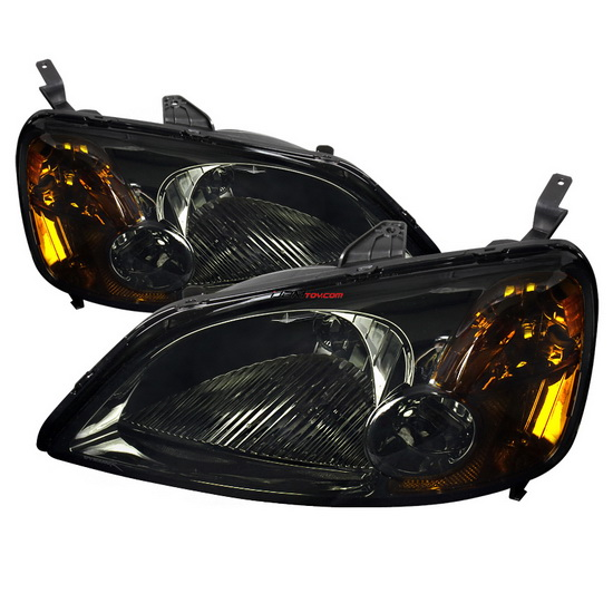 2001-2003 Honda Civic Smoke Housing Projector Headlights