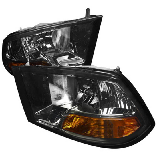 09-10 Dodge Ram Smoke Euro Headlights