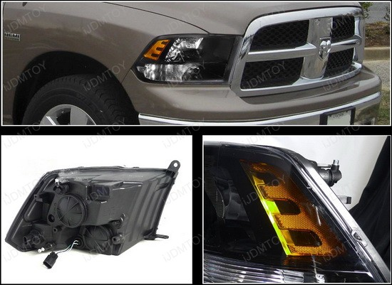 spec d 2009 2012 dodge ram 1500 2500 3500 black housing. Black Bedroom Furniture Sets. Home Design Ideas