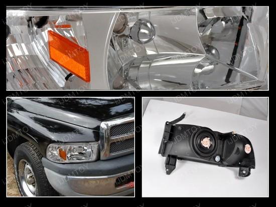 94-01 Dodge Ram Chrome Euro Headlights