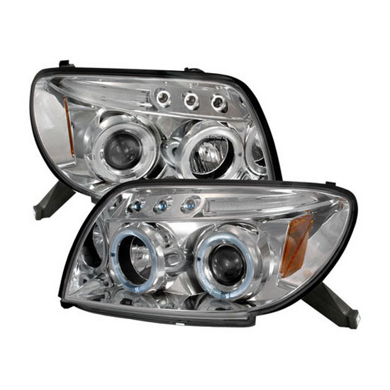 2003-2005 Toyota 4RUNNER Chrome Housing Dual Halo Angel Eyes Projector LED Headlights