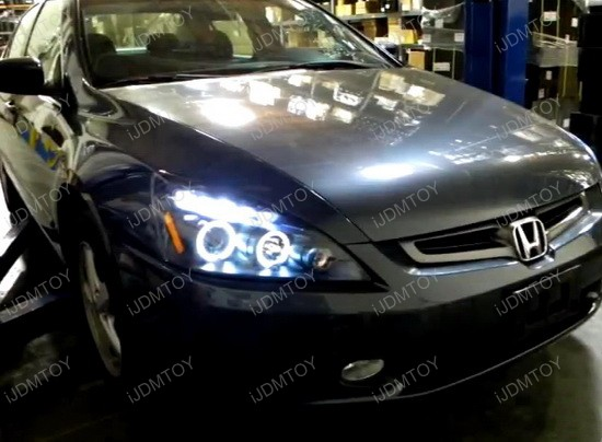 03 07 Honda Accord Chrome Halo Angel Eyes Projector Led