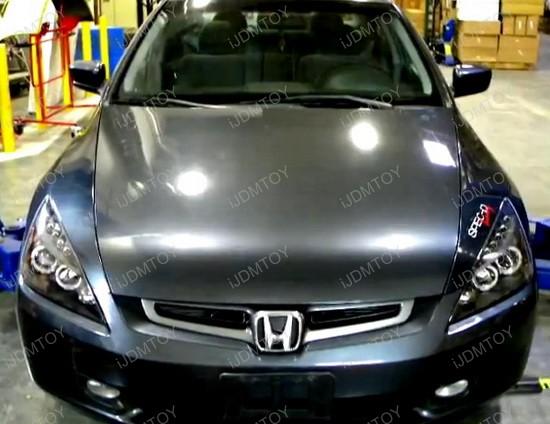 2003-2007 Honda ACCORD Black Housing Dual Halo Angel Eyes Projector LED Headlights