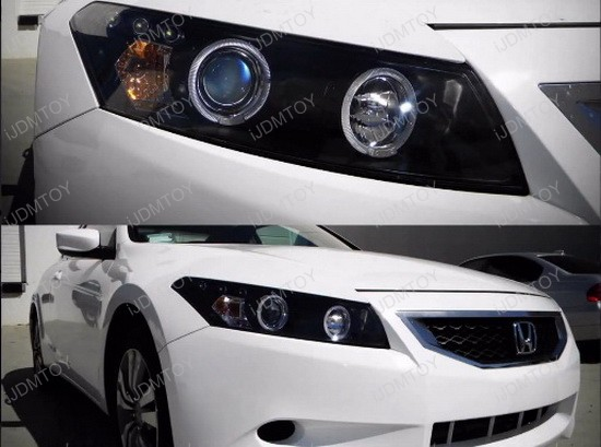 0812 Honda Accord Chrome Halo Angel Eyes Projector Led Headlightrhstoreijdmtoy: 2007 Honda Accord Headlight Wiring Diagram At Gmaili.net