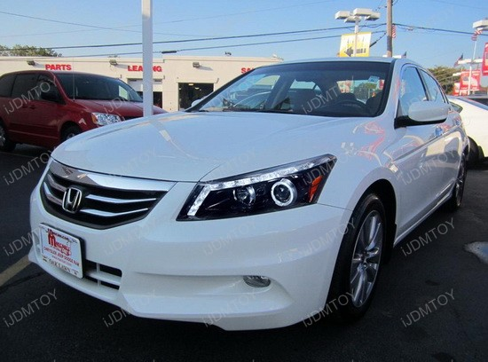 08 12 Honda Accord Black Halo Angel Eyes Projector Led