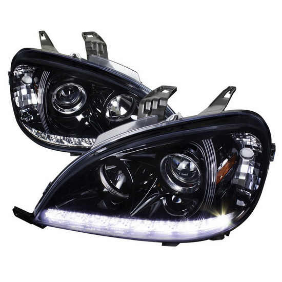 2002-2005 Mercedes W163 ML-Class Black Housing Projector Headlights