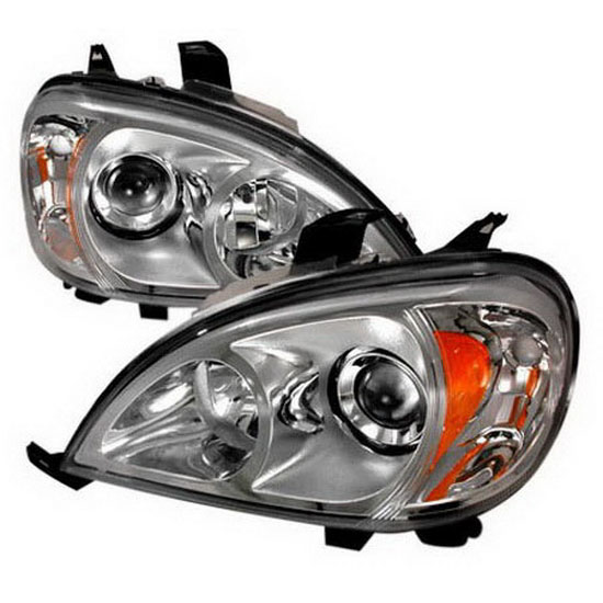 98 01 mercedes benz ml chrome aftermarket projector headlights for Mercedes benz projector lights