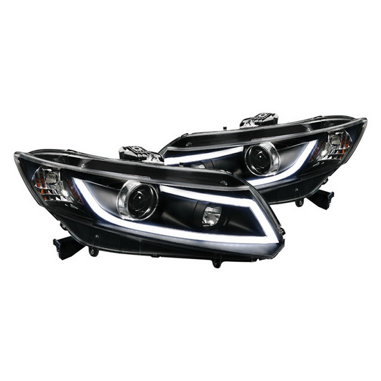 2012-up Honda CIVIC Black Housing R8 Style LED Projector Headlights