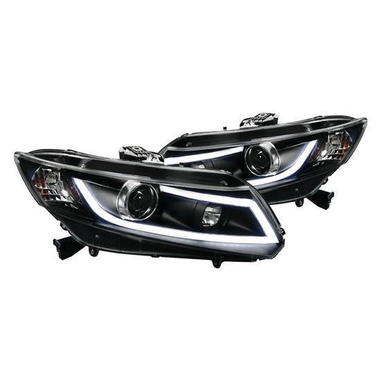 2012-up Honda CIVIC Black Housing R8 Style LED Projector Headlights