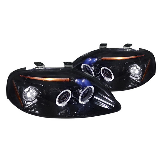 1999-2000 Honda CIVIC Black Housing Projector Headlights