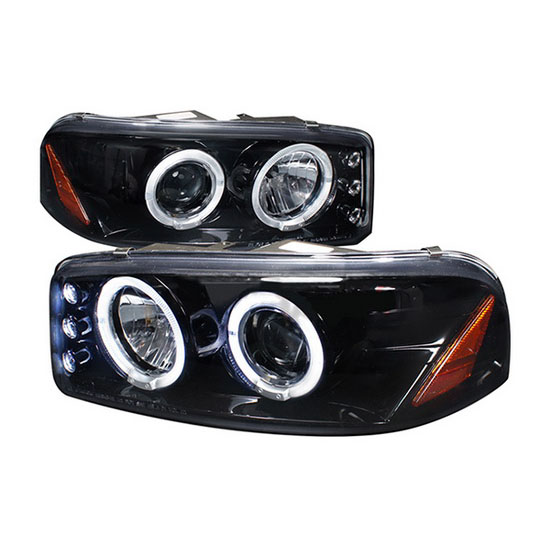 00 06 gmc yukon black halo angel eyes projector led headlights 1992 mazda  626 wiring -diagram mazda 2000 626 wiring headlight