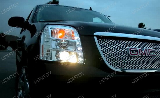 07-10 GMC DENALI/YUKON Chrome Housing Projector LED Headlights