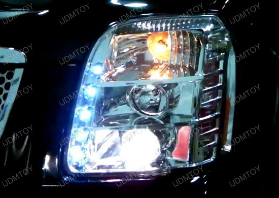 07-10 GMC DENALI/YUKON Black Housing Projector LED Headlights
