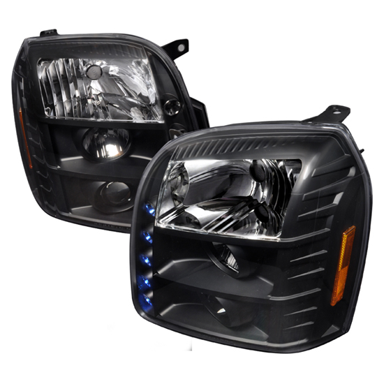 07-10 GMC DENALI/YUKON Black Housing Projector LED Headlights