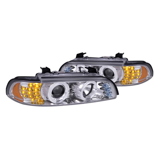 2001-2003 BMW 5-SERIES Chrome Housing LED Halo Projector Headlights