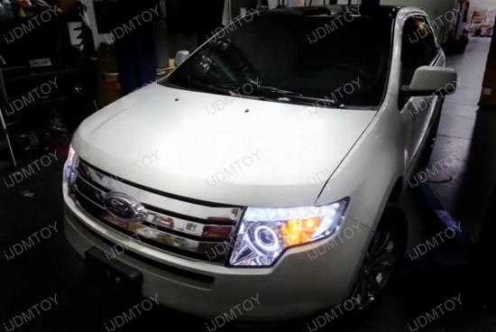 Ford Edge Chrome Housing Clear Lens Halo Angel Eye Projector Led Headlights