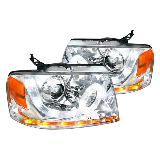 2004-2008 Ford F150 Chrome Housing Projector Headlights