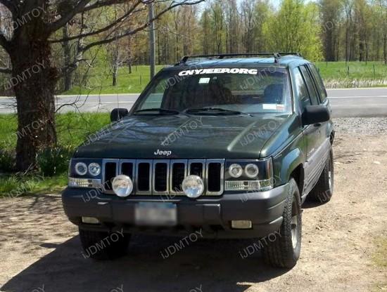 93 98 Jeep GRAND CHEROKEE Black Halo Projector Headlights