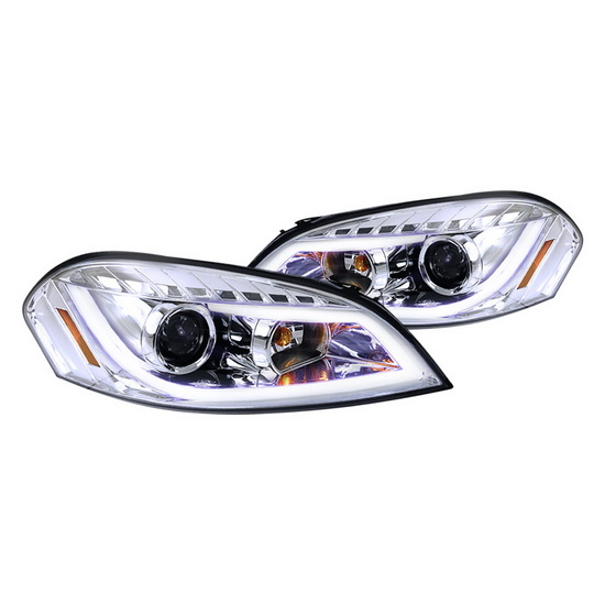 2006-2012 Chevy IMPALA Chrome Housing LED Projector Headlights