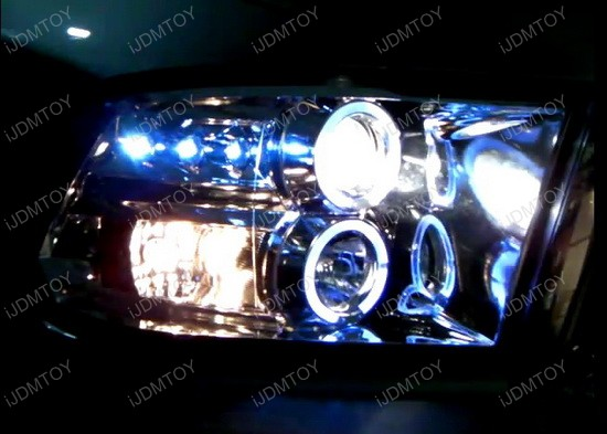 09-12 Dodge RAM Chrome Dual Halo Angel Eyes Projector LED Headlights