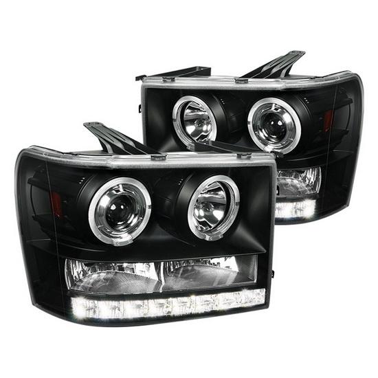 2007-2012 GMC SIERRA Black Housing Projector Headlights
