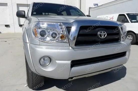 05-11 Toyota TACOMA Chrome Housing Dual Halo Projector LED Headlights