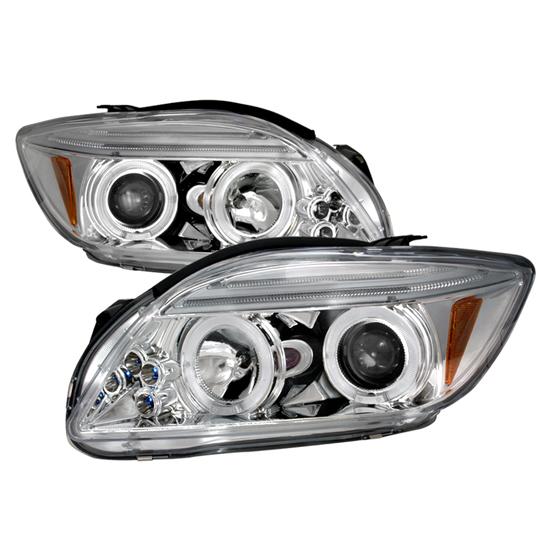 05-10 Scion TC Chrome Housing Dual Halo Projector LED Headlights