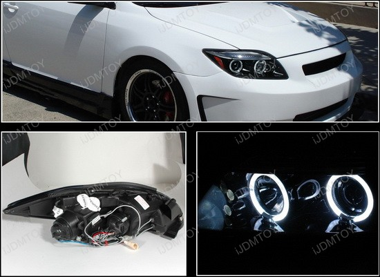 Worksheet. 0410 Scion TC Black Halo Angel Eyes Projector LED Headlights
