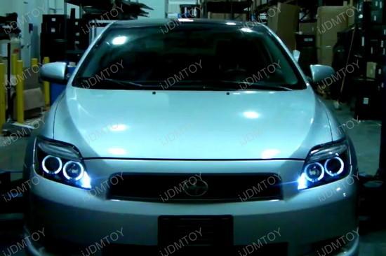 05 10 Scion Tc Black Dual Halo Projector Led Headlights