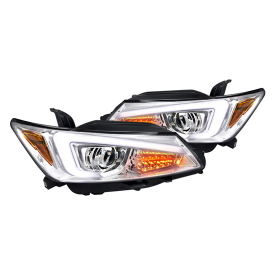 2011-2013 Scion TC Chrome Housing Projector Headlights with LED Bar