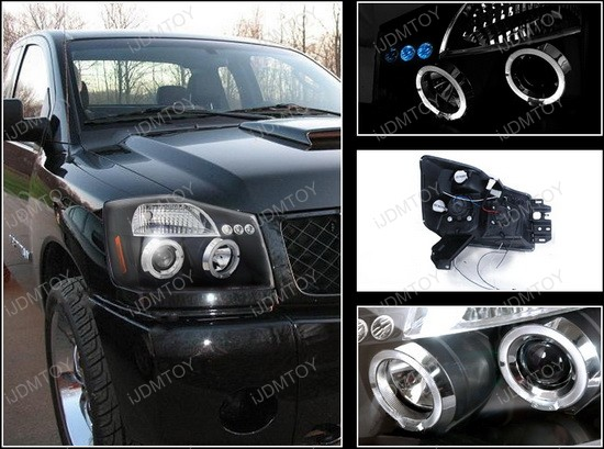 04 armada black dual halo projector led