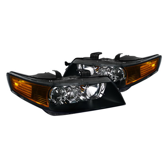 2004-2005 Acura TSX Black Housing Projector Headlights