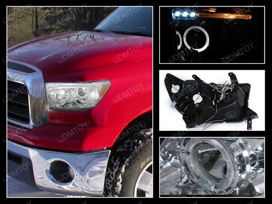 07-11 Toyota Tundra Chrome Halo Projector Headlights with LEDs