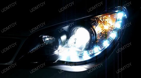 06-07 Subaru IMPREZA WRX Black Housing Projector LED Headlights