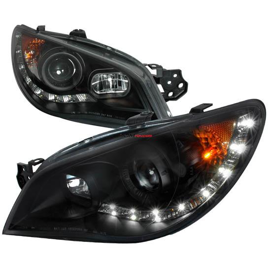 06 07 Subaru Impreza Wrx Black Housing Projector Led Headlights